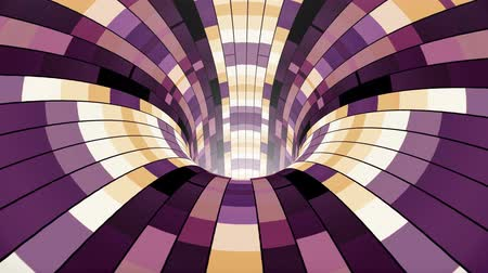 huni : Colorful wormhole funnel tunnel flight seamless loop animation background new quality vintage style cool nice beautiful 4k stock video footage