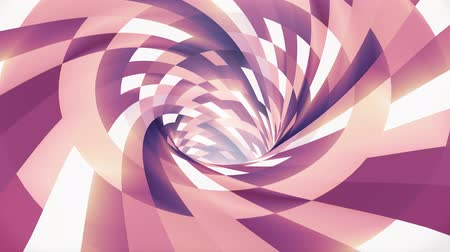 bükülme : Colorful spiral wormhole funnel tunnel flight seamless loop animation background new quality vintage style cool nice beautiful 4k stock video footage Stok Video