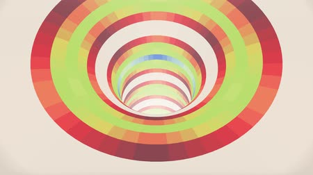 bükülme : Colorful wormhole funnel tunnel flight seamless loop animation background new quality vintage style cool nice beautiful 4k stock video footage