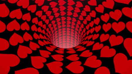 solucan : heart wormhole funnel tunnel flight seamless loop animation background new quality vintage style cool nice beautiful 4k stock video footage Stok Video