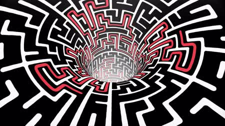 obtížný : labyrinth maze wormhole funnel tunnel flight seamless loop animation background new quality vintage style cool nice beautiful 4k stock video footage Dostupné videozáznamy