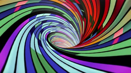 вихрь : Colorful spiral wormhole funnel tunnel flight seamless loop animation background new quality vintage style cool nice beautiful 4k stock video footage Стоковые видеозаписи