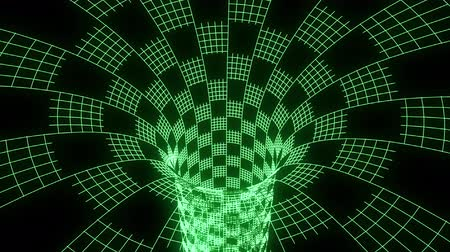 download : Grid wormhole funnel tunnel animation background new quality technological cool nice beautiful stock 4k video footage