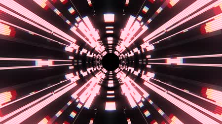 bending : Flight in out neon lights cyber data vr tunnel motion graphics animation background seamless loop new quality futuristic cool nice beautiful 4k stock video footage