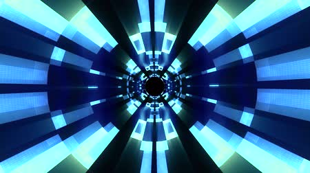 speed tunnel : Flight in out neon lights cyber data vr tunnel motion graphics animation background seamless loop new quality futuristic cool nice beautiful 4k stock video footage