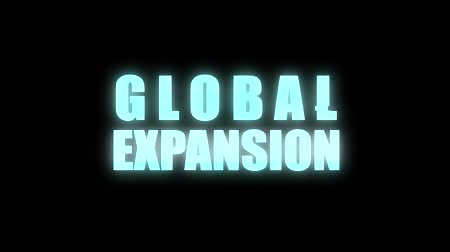 genişleme : cool glitch GLOBAL EXPANSION text animation background logo seamless loop New quality universal technology motion dynamic animated background colorful joyful video