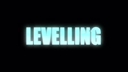 levelling : cool glitch LEVELLING text animation background seamless loop New quality universal technology motion dynamic animated background colorful joyful video