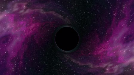 huni : Black hole pulls in nebula star space time funnel pit seamless loop animation background New quality universal science cool nice 4k stock video footage