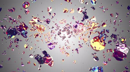 rtuť : colorful liquid metal water drops randomly diffused in space digital animation background new quality natural motion graphics cool nice beautiful 4k stock video footage