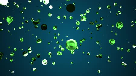 cıva : emerald green liquid metal water bubble floating up in space digital animation background new quality natural motion graphics cool nice beautiful 4k stock video footage Stok Video
