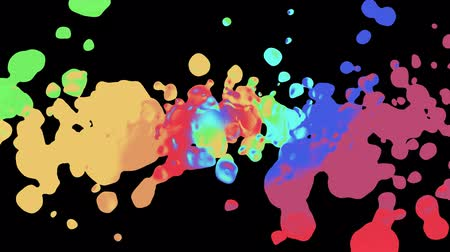 glinka : rainbow spiral colorful splatter blot spreading turbulent moving abstract painting animation background new unique quality art stylish joyful cool nice motion dynamic beautiful 4k stock video footage