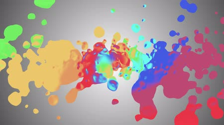 증기 : rainbow spiral colorful splatter blot spreading turbulent moving abstract painting animation background new unique quality art stylish joyful cool nice motion dynamic beautiful 4k stock video footage