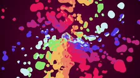 barro : rainbow spiral colorful splatter blot spreading turbulent moving abstract painting animation background new unique quality art stylish joyful cool nice motion dynamic beautiful 4k stock video footage