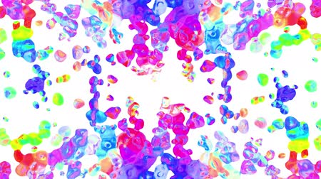 seda : rainbow colorful paint splatter blot drops spreading turbulent moving abstract painting animation background new unique quality art stylish joyful cool nice motion dynamic beautiful 4k video footage Vídeos