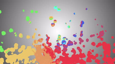 bílé mraky : rainbow colorful paint splatter blot drops spreading turbulent moving abstract painting animation background new unique quality art stylish joyful cool nice motion dynamic beautiful 4k video footage Dostupné videozáznamy