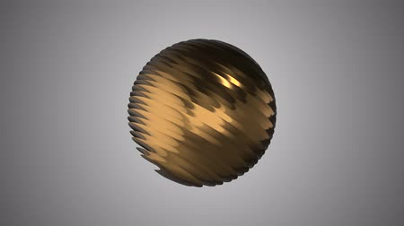 премия : Golden ribbed ball rotating in space seamless loop background animation new quality new quality industrial techno construction futuristic cool nice joyful video footage Стоковые видеозаписи