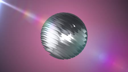 world cup : Silver ribbed ball rotating in space seamless loop background animation new quality new quality industrial techno construction futuristic cool nice joyful video footage
