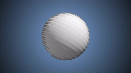 world cup : White ribbed ball rotating in space seamless loop background animation new quality new quality industrial techno construction futuristic cool nice joyful video footage