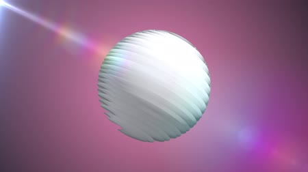 кружка : White ribbed ball rotating in space seamless loop background animation new quality new quality industrial techno construction futuristic cool nice joyful video footage