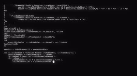 kodlama : encrypted fast long scrolling programming security hacking code data flow stream on black white display new quality numbers letters coding techno joyful video 4k stock footage