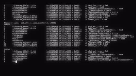 code : encrypted fast long scrolling programming security hacking code data flow stream on black white display new quality numbers letters coding techno joyful video 4k stock footage
