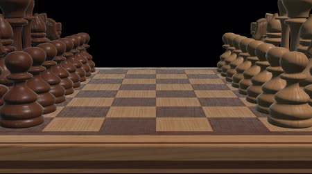 peão : chess board 3d close up camera animation new quality board game cool nice joyful video 4k stock footage Vídeos