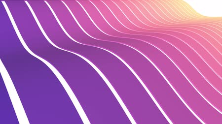burmak : soft waving striped fabric abstract lines gentle flow seamless loop animation background new quality dynamic art motion colorful cool nice beautiful video 4k artistic stock footage Stok Video