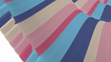tiras : soft waving glossy stripes fabric abstract lines gentle flow seamless loop animation background new quality dynamic art motion colorful cool nice beautiful video 4k artistic stock footage