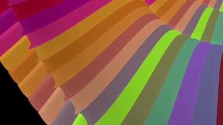 rendered : soft waving glossy stripes fabric abstract lines gentle flow seamless loop animation background new quality dynamic art motion colorful cool nice beautiful video 4k artistic stock footage