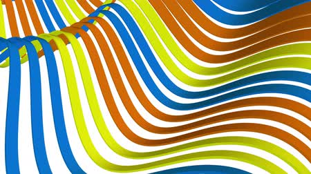 a form : soft waving stripes fabric rubber bands abstract lines gentle flow seamless loop animation background new quality dynamic art motion colorful cool nice beautiful video 4k artistic stock footage