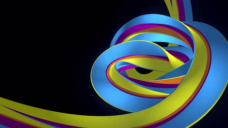 basic shape : Soft colors 3D curved rainbow rubber band marshmallow rope candy seamless loop abstract shape animation background new quality universal motion dynamic animated colorful joyful video 4k stock footage