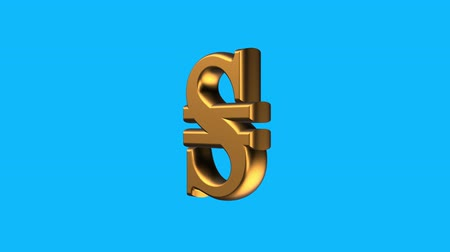 ucraino : golden Ukrainian HRYVNIA currency sign spinning animation seamless loop on blue background new quality unique financial business animated dynamic motion 4k video stock footage