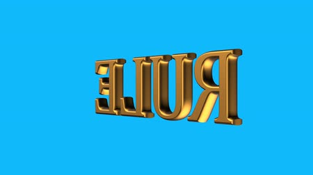 věta : golden rule word sign spinning animation seamless loop on blue background new quality unique financial business animated dynamic motion 4k video stock footage Dostupné videozáznamy