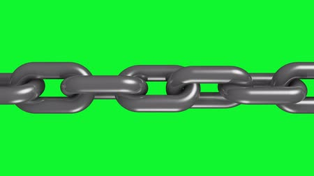 consciousness : silver steel metal chain rotating seamless loop animation green screen 3d motion graphics background new quality industrial techno construction cool nice joyful 4k video footage