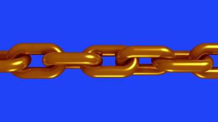 endless gold : copper brass metal chain rotating seamless loop animation 3d motion graphics background new quality industrial techno construction cool nice joyful 4k video footage