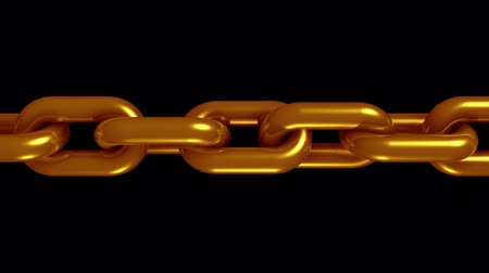 consciousness : copper brass metal chain rotating seamless loop animation 3d motion graphics background new quality industrial techno construction cool nice joyful 4k video footage