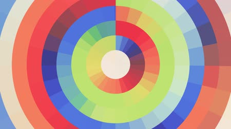 fayans : abstract rainbow color moving circle pixel block background seamless loop animation New quality universal motion dynamic animated technological colorful joyful dance music video 4k stock footage Stok Video