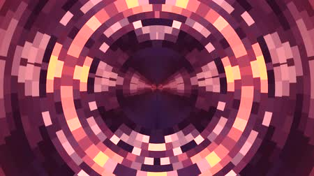 универсальный : abstract colorful moving circle pixel blocks background animation New quality universal motion dynamic animated technological colorful joyful dance music video 4k stock footage