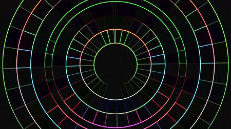 nativo : neon moving circle grid blocks background animation New quality universal motion dynamic animated technological colorful joyful dance music video 4k stock footage