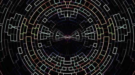 segmento : neon moving circle grid blocks background animation New quality universal motion dynamic animated technological colorful joyful dance music video 4k stock footage