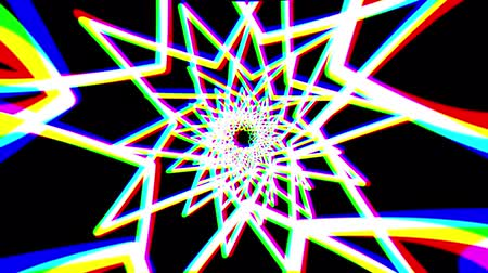 vzorec : abstract retro net star shape tunnel slow motion flight rainbow drawing motion graphics animation background new quality vintage style cool nice beautiful 4k 60p stock video footage