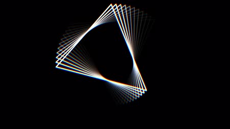 black and white : triangle shape frame rotating seamless loop animation background New quality universal motion dynamic animated cool video 4k 60p footage