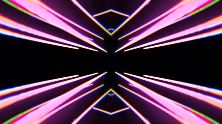 el feneri : abstract neon lights rotating seamless loop motion graphics animation background new quality techno style colorful cool nice beautiful 4k stock video footage