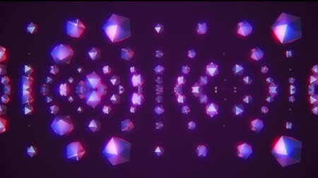 jewellery : many shiny crystals random rotating fading in color space animation glamour background new quality universal motion dynamic animated colorful joyful cool 4k stock video footage