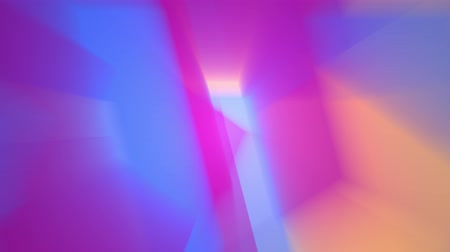 yetiştirmek : abstract background shiny rainbow lights rotating seamless loop motion graphics animation new quality techno retro vintage style colorful cool nice beautiful 4k 60p stock video footage Stok Video