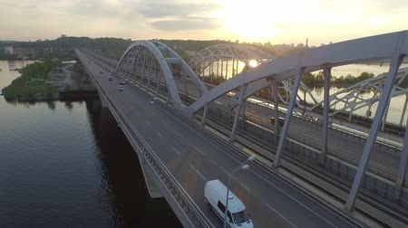 mosty : Kiev bridge aerial view