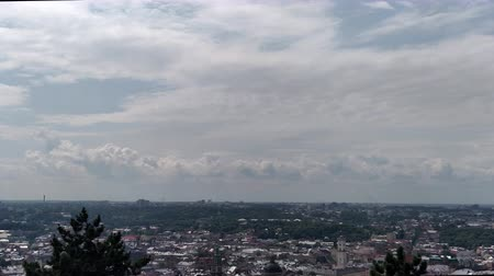 lviv : View on city Lviv with overview area in park Sky with clouds vacation