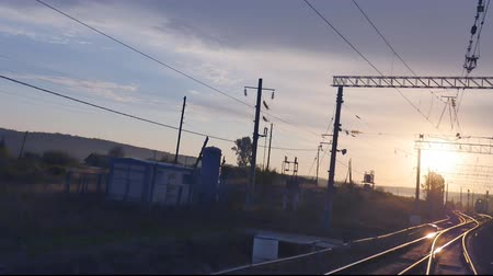 ekspres : movement of trains on the TRANS-Siberian railway towards the sun