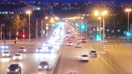 car traffic in city at night