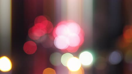 abstract colored lights in defocus.